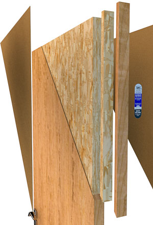 An All Purpose Door Of Five Ply Construction. Hardwood Veneers Are  Permanently Bonded To Crossband, Wood Slab, And Frame. The Core Consists Of  Structural ...